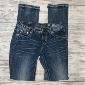 Miss Me Signature Straight Jeans Size 28